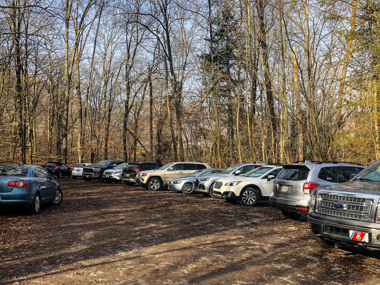 A parking area at the trailhead.
