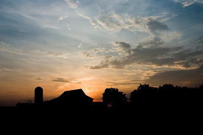 sunset on the farm III