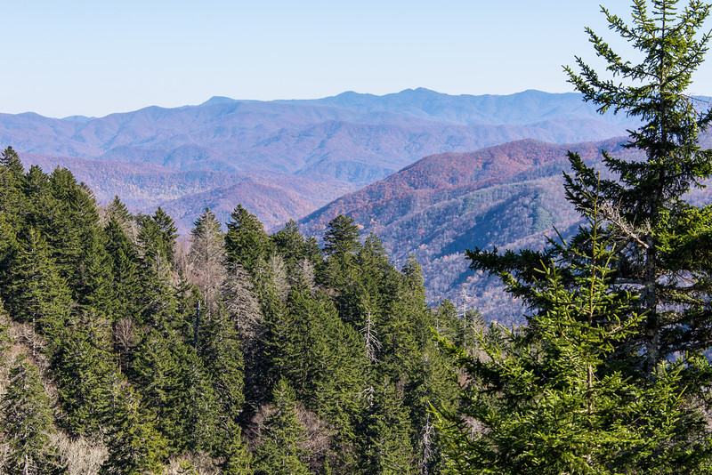 View from Newfound Gap in Great Smoky Mountains National Park - October 2014