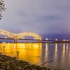Hernando de Soto Bridge - Memphis Tennessee at night