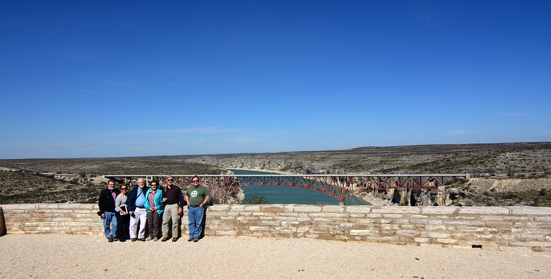 Some of the NWPC at the Pecos RIver Bridge