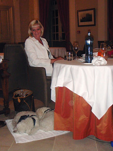 Jean and Girls at Dinner