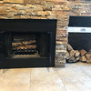 Wonderful real wood fire place