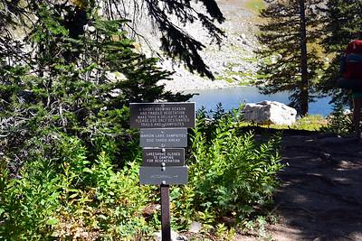 Signage at Marion Lake