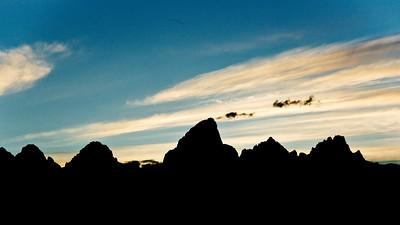 Grand Teton Peak at Sunset