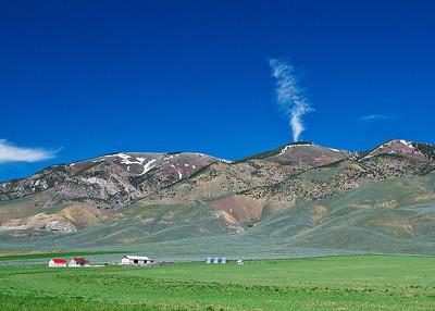 Farm at border of Idaho and Wyoming