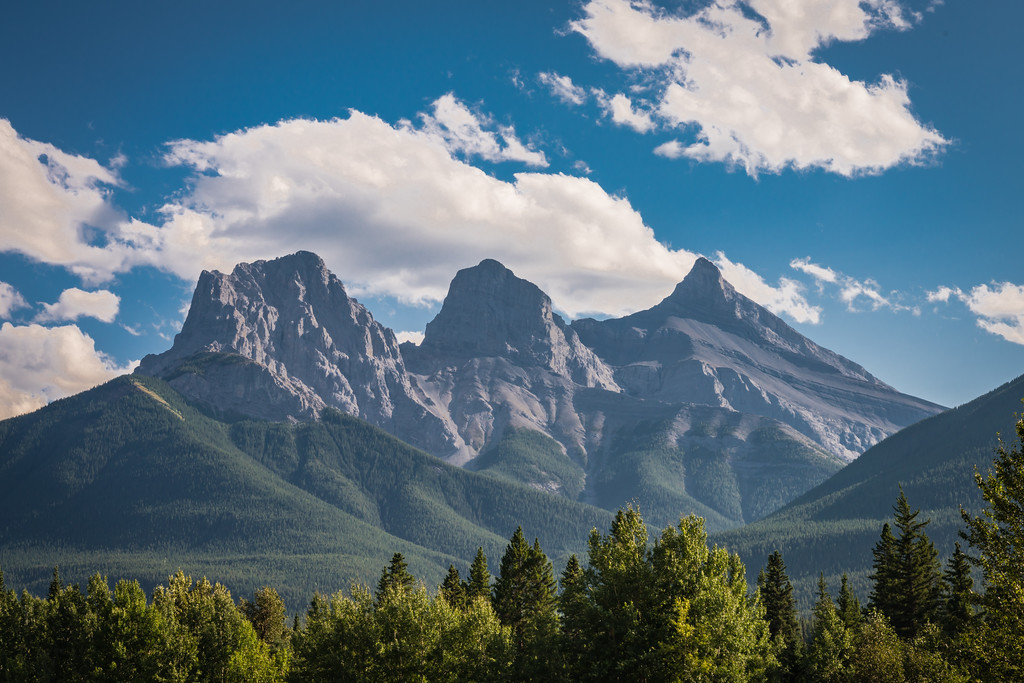 """""""The Three Sisters"""" - On a MUCH clearer day"""
