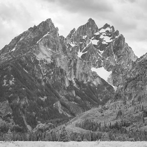 The Grand Teton National Park - Black & White