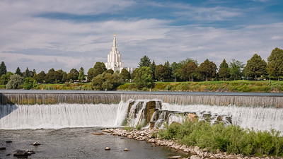 Idaho Falls, ID - Water source and electric generation - Mormon Temple