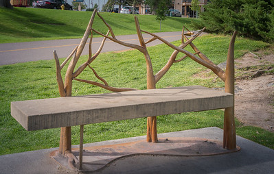 Idaho Falls, ID - Art that is also a bench