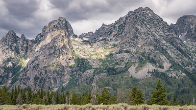 The Grand Teton National Park - Play on color and texture