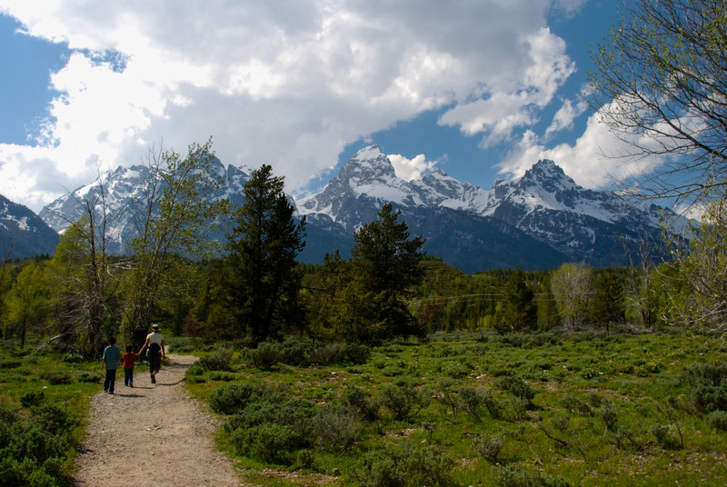 Our first hike in the Tetons