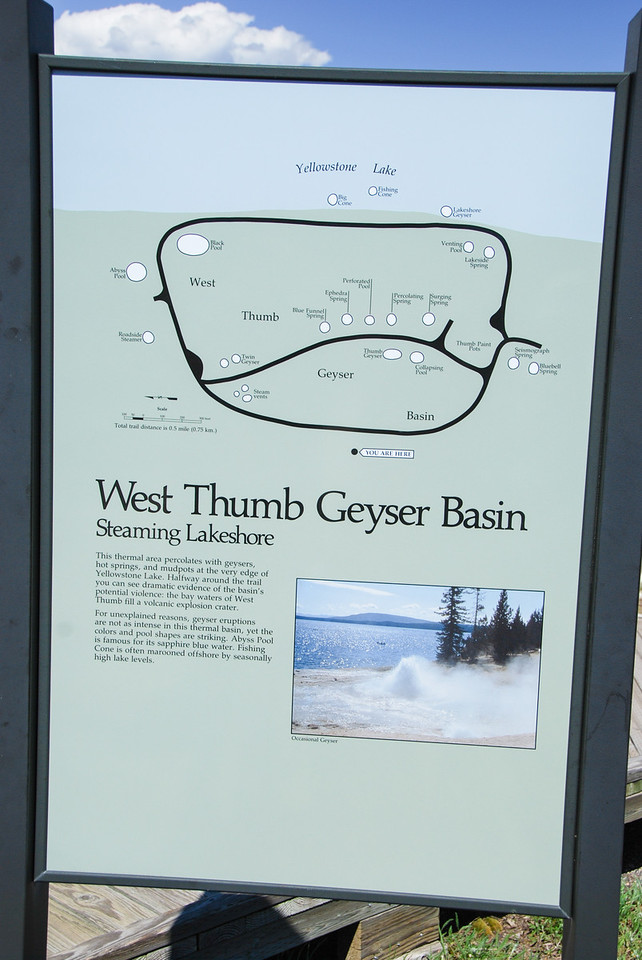 Map of the West Thumb Geyser Basin