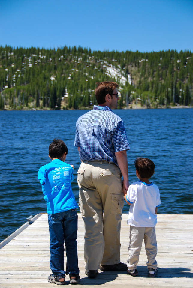 Hal and the boys check out the lake