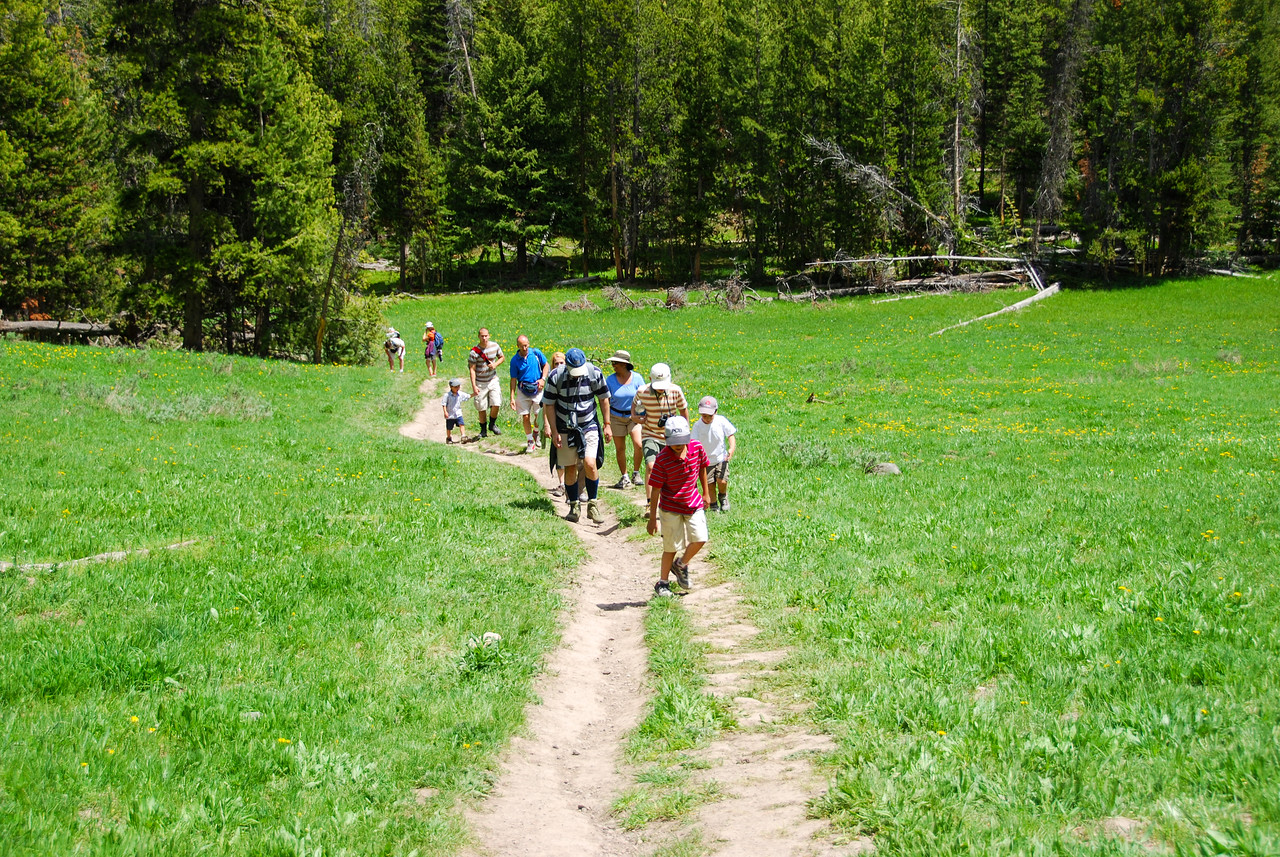 Our group continues along the trail