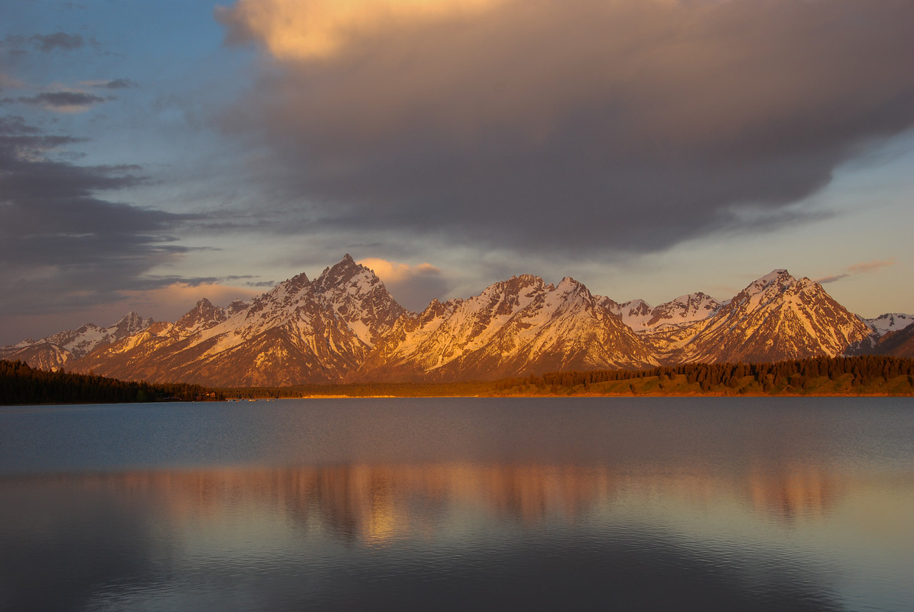 Sunrise over Jackson Lake
