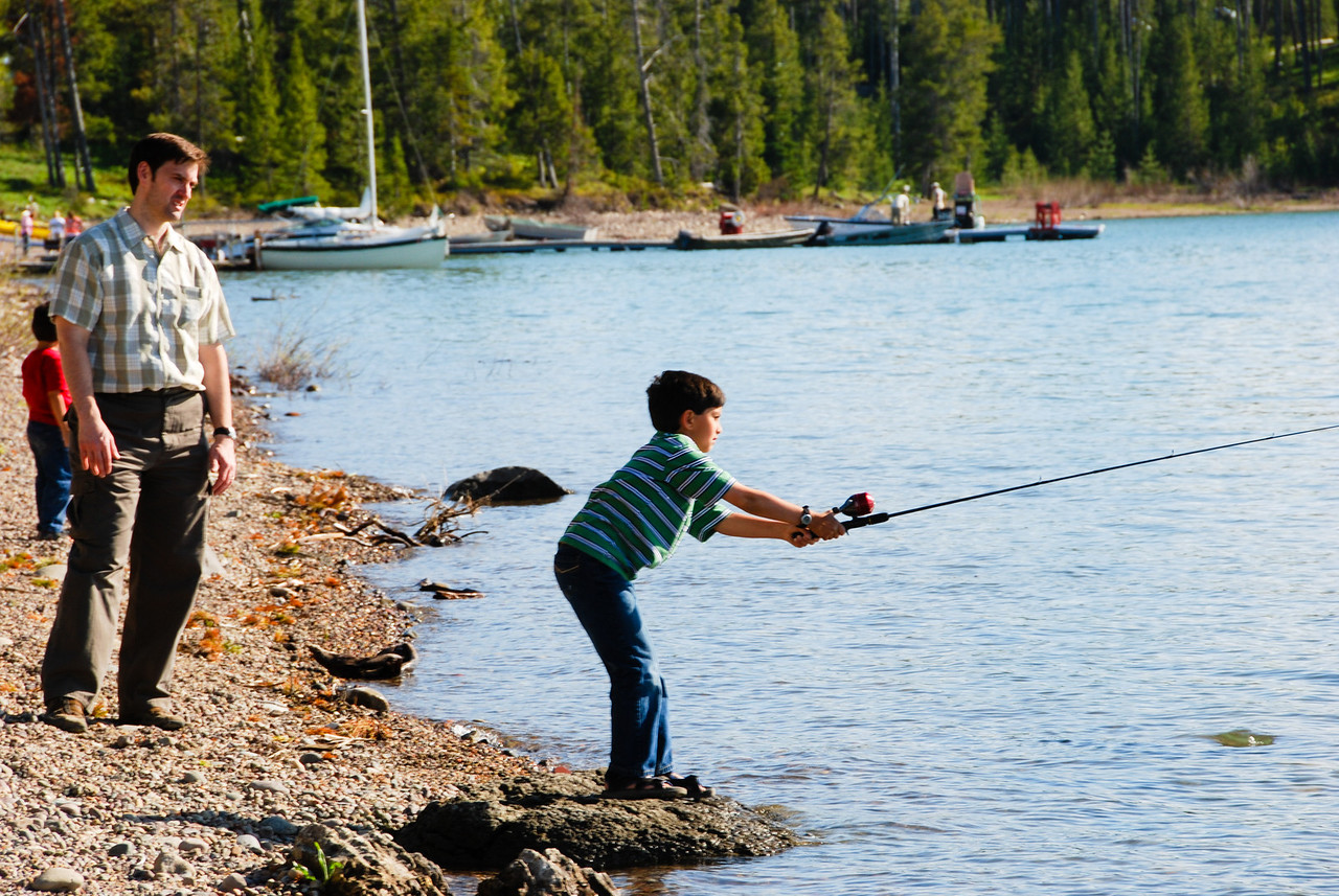 Nikhil learning how to throw a line