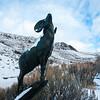 Big Horn Sheep Sculpture at National Museum of Wildlife Art