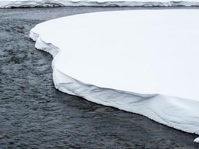 Lewis River Snowbank