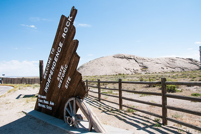 Wyoming - Independence Rock on Oregon Trail