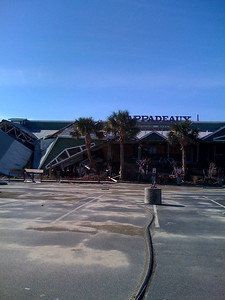 Our favorite restaurant, Pappadeaux, after the hurricane. No signs that they will re-open.