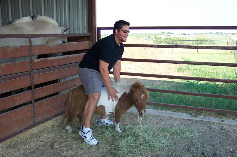 I was in Texas and had to do a *little horseback riding....
