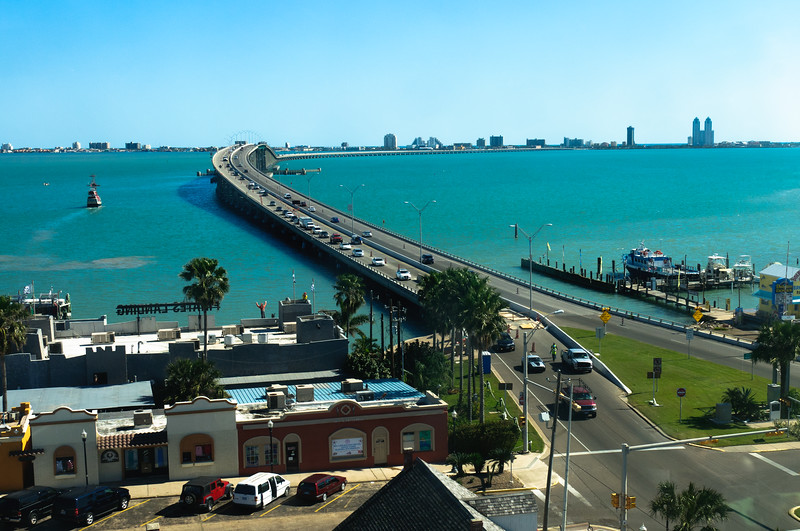 Causeway to South Padre<br /> Taken from the Port Isabella Lighthouse