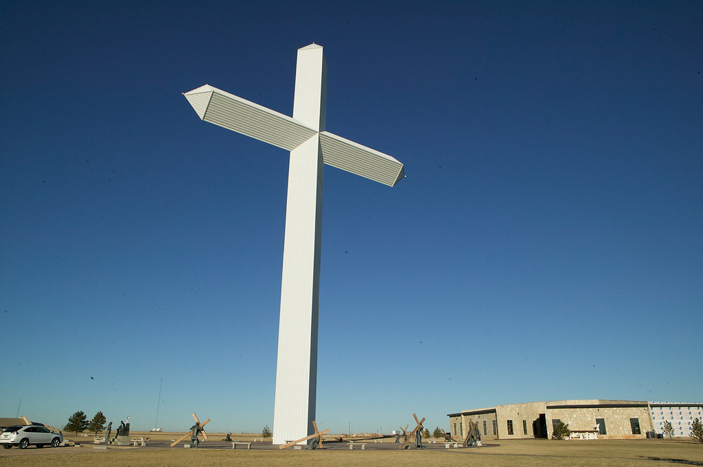 This cross is in Groom, Texas. You can see it for miles as you drive along Interstate 40, and then exit onto an original portion of Route 66.