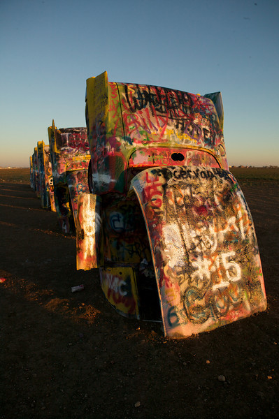 The Cadillac Ranch near Amarillo, Texas.