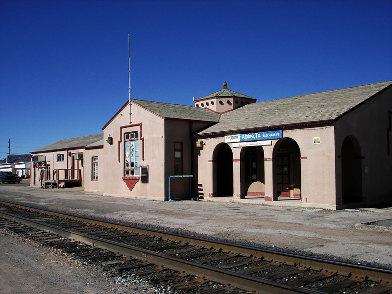 ALPINE TRAIN STATION<br /> I realize this isn't one of those quaint old structures, but it's still a Texas train depot, and very much in use today.