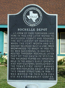 ROCHELLE DEPOT HISTORICAL MARKER It's got its own historical marker, too.