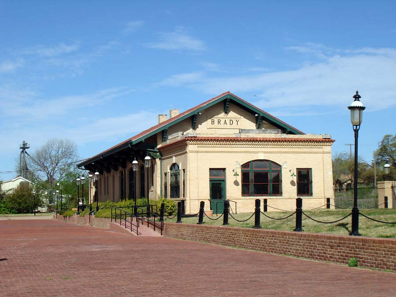 BRADY TRAIN DEPOT<br /> It's now used as a sort of community center and conference center, available for rental for whatever event you may have in mind. What a nice place to throw a shindig.