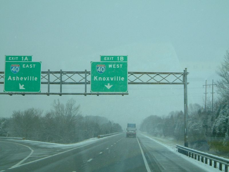 Snow in December in Virginia and Tennessee on the way to Texas.