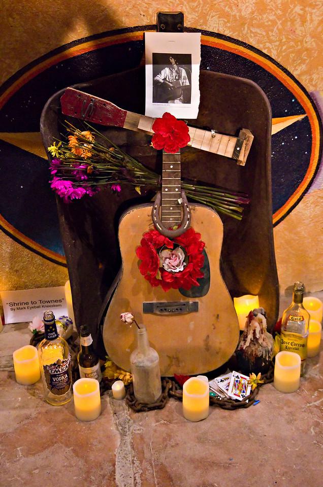 Townes Van Zandt shrine at Starlight Theatre, Terlingua, TX.