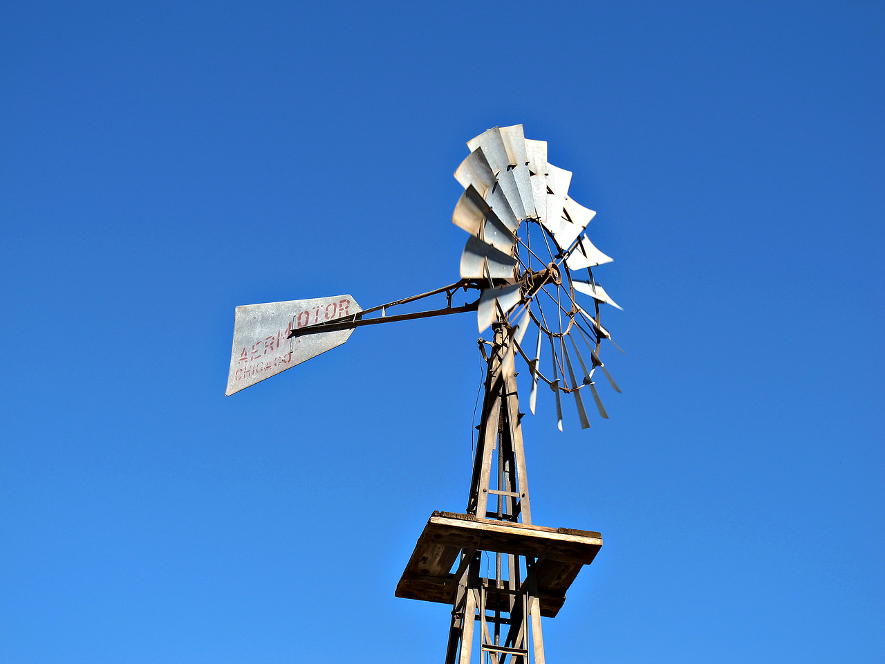Windmill at Dugout Wells.