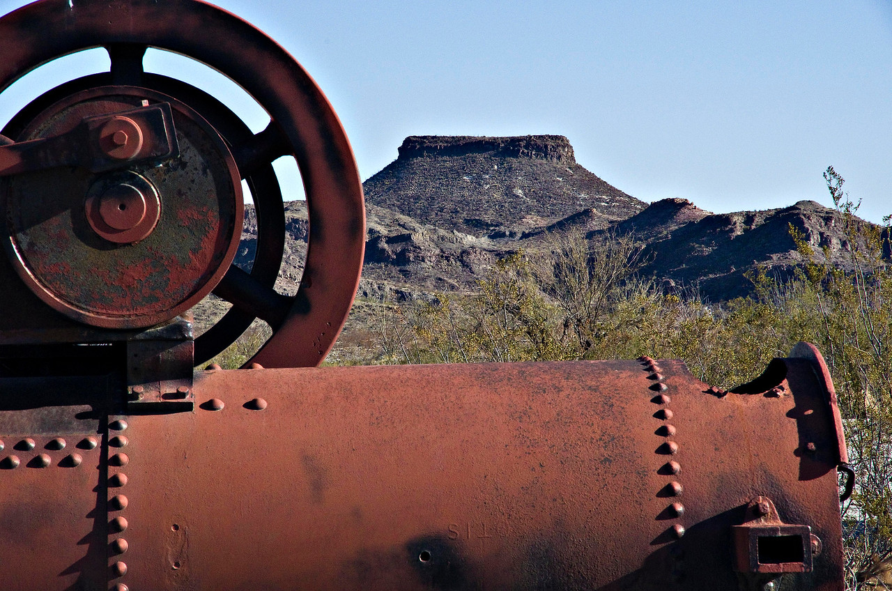 Old steam engine at Castolon.