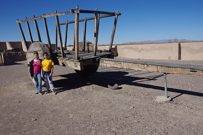 Large wagon at Fort Leaton.  These were used to haul goods from San Antonio and then often dismantled since large wooden beams were hard to obtain.