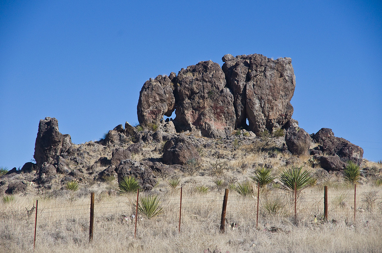 Elephant Rock near Shafter, TX on Hwy 67.