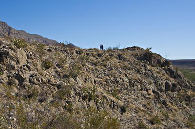 The hill top trail to gain entry into Boquilla Canyon.