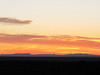 Sunset over Mexican Mountains near Seminole Canyon State Park.