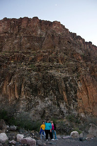 Outside Closed Canyon at Big Bend Ranch State Park.