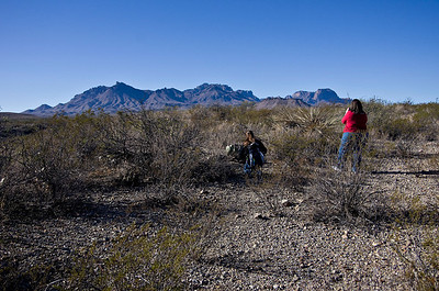 Photographing the Chisos Mountain range.