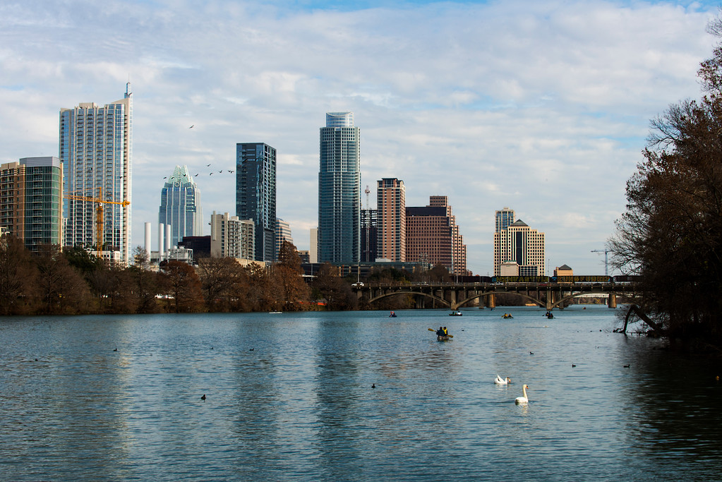 Downtown Skyline of Austin, Texas - Professional Skyline Photography - Waterscape