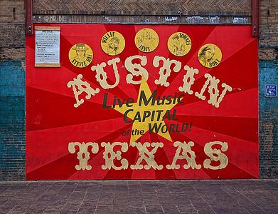 Billboard on famous 6th St in Austin, TX