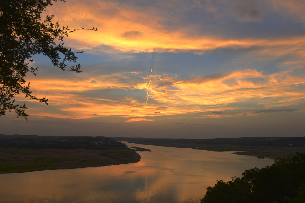 Lake Travis at Sunset, Austin, Texas