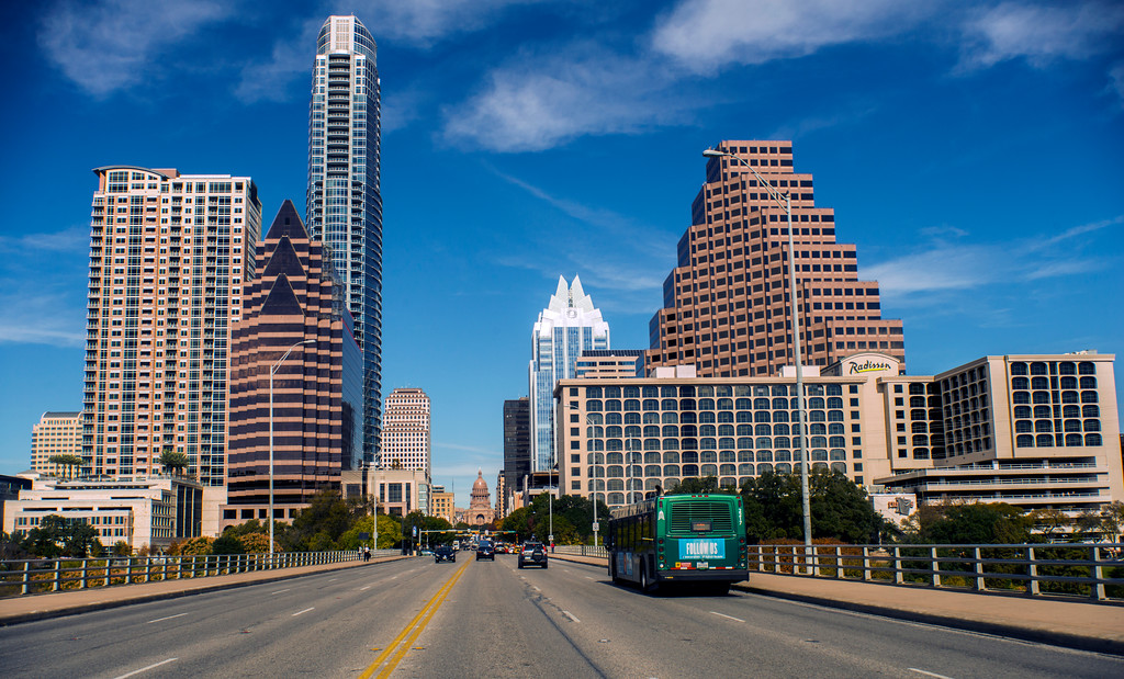 Downtown Skyline of Austin, Texas - Professional Skyline Photography
