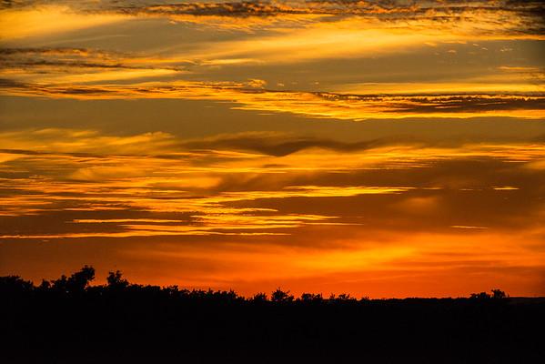 Fire Orange Sunset in ATX