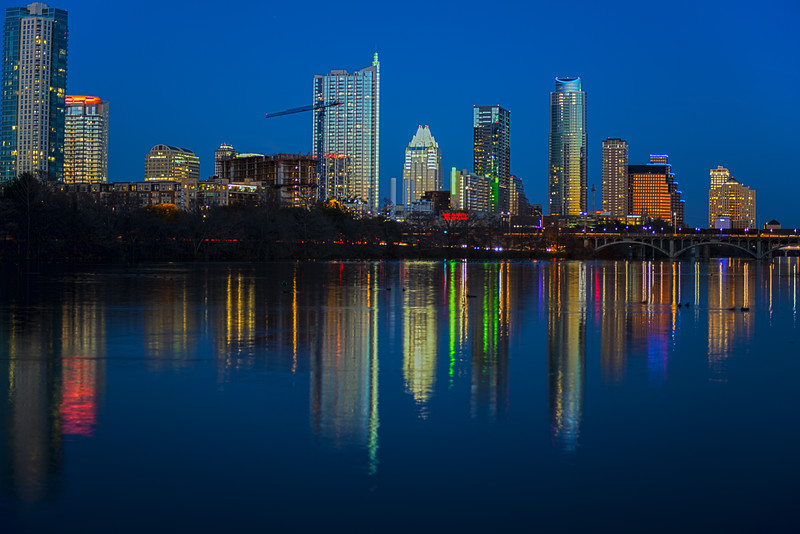 Texas Travel Photography - Austin Skyline - Austin - Texas - USA