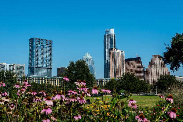 Downtown Skyline of Austin, Texas - Professional Skyline Photography - Butler Park