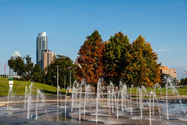Liz Carpenter Fountain - Butler Park - Downtown Skyline of Austin, Texas - Professional Cityscape Photography